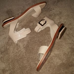 COLE HAAN NUDE LEATHER SANDALS SZ 10B